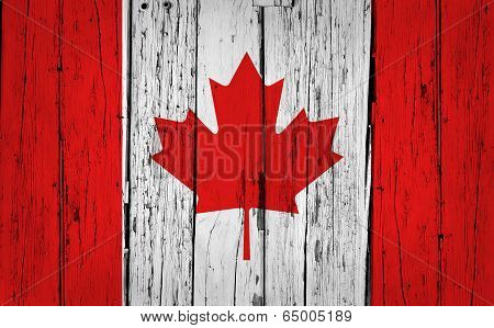 Canada Flag Grunge Background