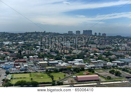 Above view to Durban city