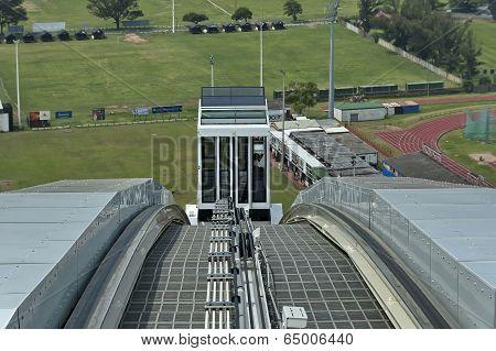 Skycar arrive - Moses Mabhida stadium in Durban