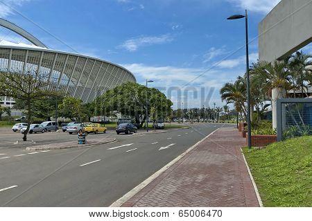 Alongside of Moses Mabhida soccer stadium in Durban
