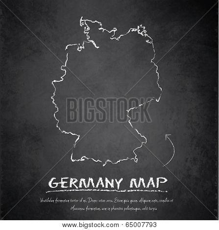 Germany map blackboard chalkboard vector