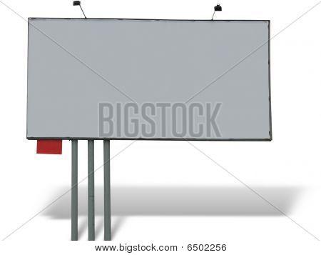 Blank Billboard Over White Background