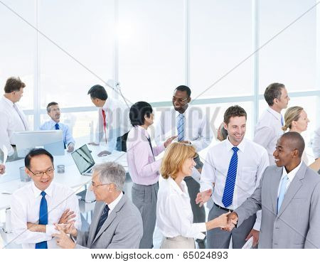 Group of Business People Meeting in the Office poster