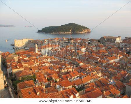 Red Roofs in Dubvronik, Croatia