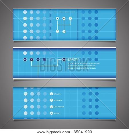 Web Design Elements - Blue Abstract Header Design with Dots