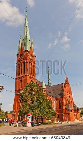 Saint Catherine Church (1897) In Torun, Poland