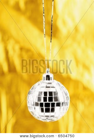 Photo Of Christmas Ball Over Golden