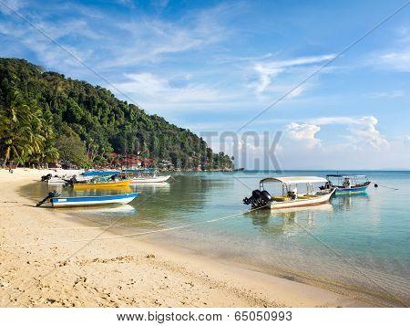 Boats in Coral Bay, Perhentian Island, Malaysia