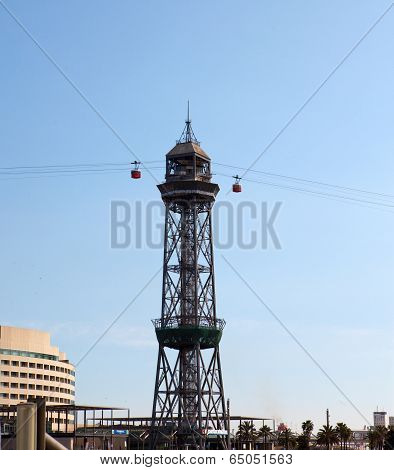 Transbordador Aeri del Port- ropeway in port Barcelona