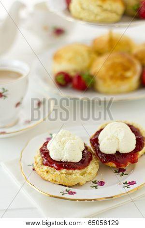 Cream Tea Scene, Vertical