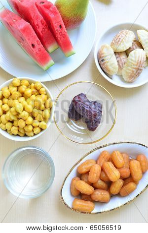 Assorted ramadan special food - Top angle