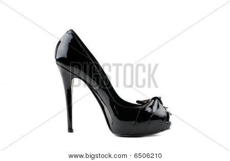 Photo Of Elegant Modern Female's Black Shoe