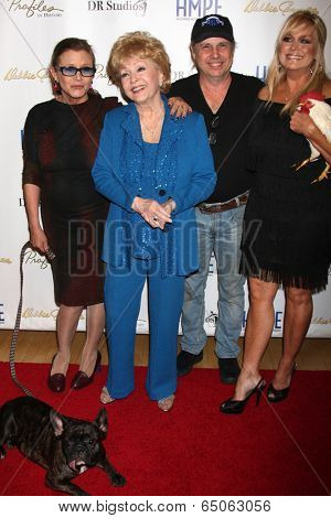LOS ANGELES - MAY 14:C Fisher, D Reynolds, Todd Fisher, Catherine Hickland at the