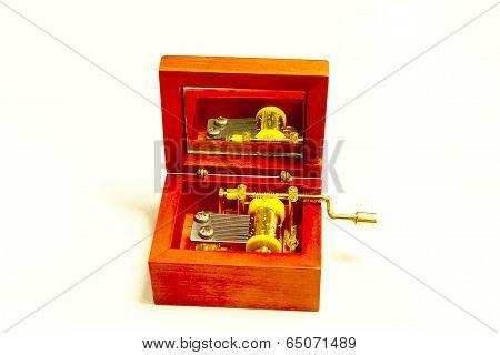 Old Music Box Metal Toy Retro Vintage