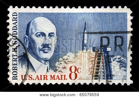 Robert H Goddard Us Postage Stamp