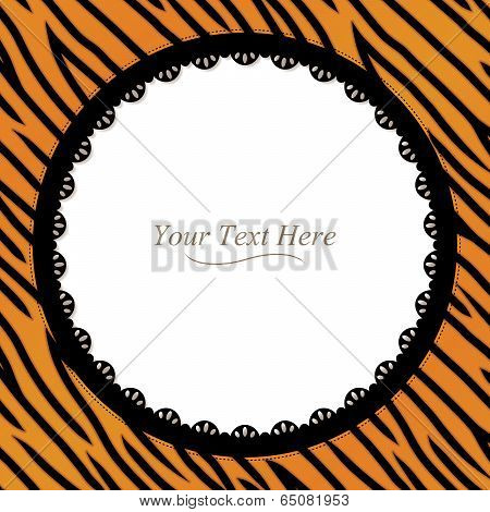 Tiger Striped Round Frame