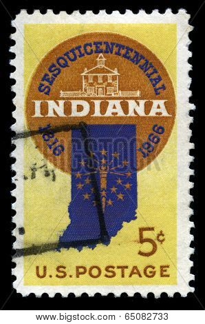 Indiana Statehood Us Postage Stamp