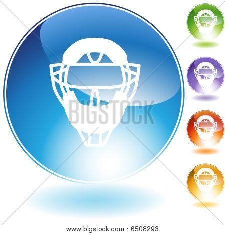 Umpire Mask Helmet Crystal Icon