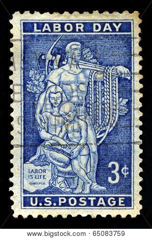 Labor Day Us Postage Stamp