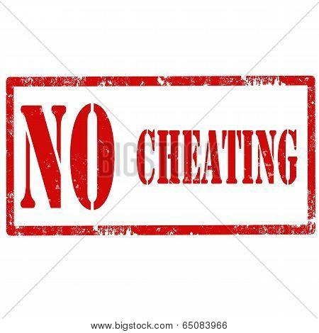 No Cheating-stamp