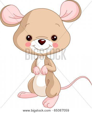 Farm animals. Illustration of cute Mice