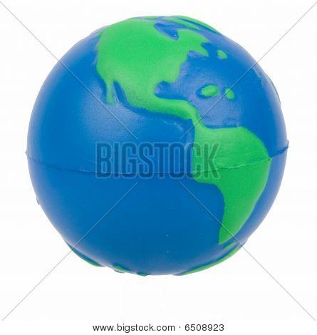 Globe isolated on white -  Flying
