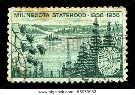 Minnesota Us Postage Stamp
