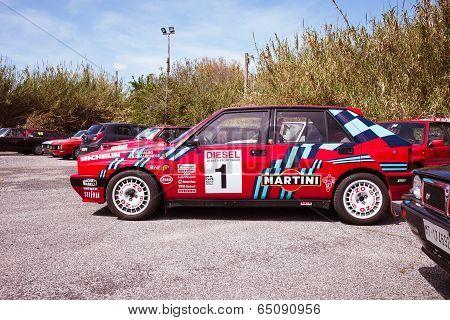 Red Lancia Delta Hf Integral Martini Racing