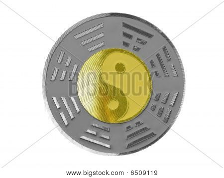 yin yang with trigrams