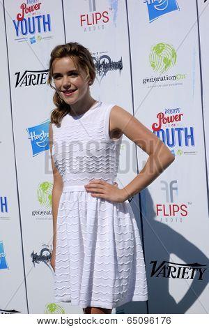 LOS ANGELES - JUL 27:  Kiernan Shipka at the Variety's Power of Youth  at Universal Studios Backlot on July 27, 2013 in Los Angeles, CA