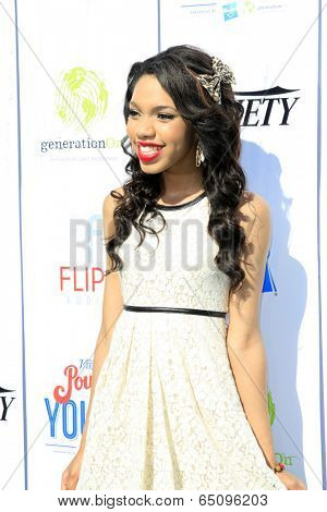LOS ANGELES - JUL 27:  Teala Dunn at the Variety's Power of Youth  at Universal Studios Backlot on July 27, 2013 in Los Angeles, CA