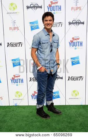 LOS ANGELES - JUL 27:  Keean Johnson at the Variety's Power of Youth  at Universal Studios Backlot on July 27, 2013 in Los Angeles, CA