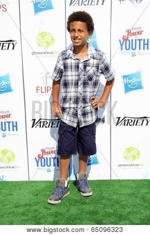 LOS ANGELES - JUL 27:  Tyree Brown at the Variety's Power of Youth  at Universal Studios Backlot on July 27, 2013 in Los Angeles, CA