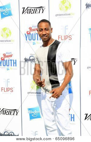 LOS ANGELES - JUL 27:  Brandon T. Jackson at the Variety's Power of Youth  at Universal Studios Backlot on July 27, 2013 in Los Angeles, CA