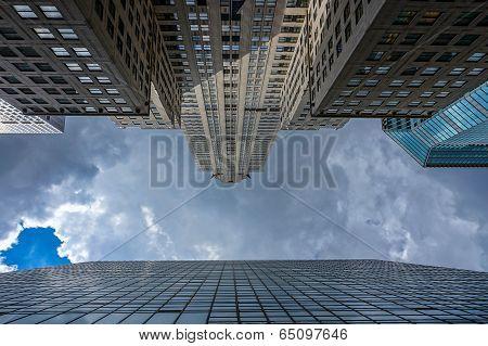 Skyscrapers toward the sky