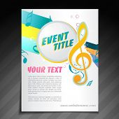vector event brochure flyer template design poster