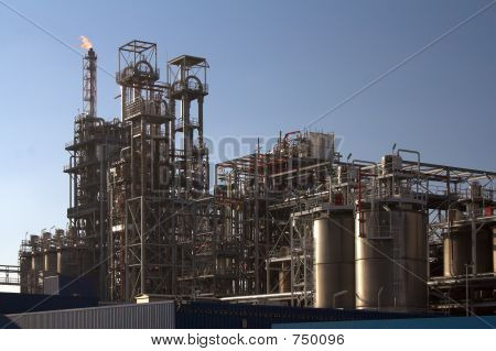 Oil refinery in a sunny day