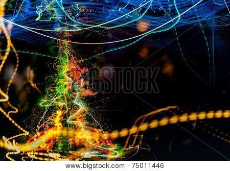 Digital Abstraction Of Christmas Tree