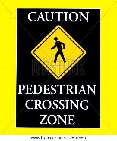 Traffic sign on yellow background