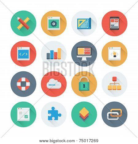Pixel Perfect Web Development Flat Icons