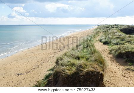 Utah Beach is one of the five Landing beaches in the Normandy landings on 6 June 1944 during World War II. Utah is located on the coast of Normandy France poster