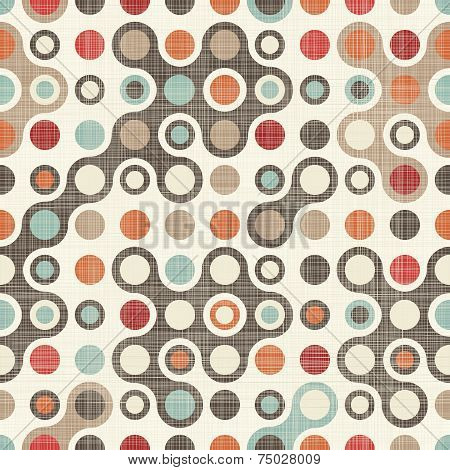 Retro Abstract Colorful Seamless Pattern