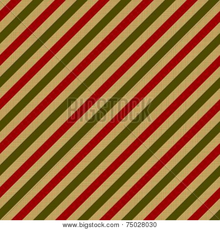Retro wrapping for Christmas gift, colorful design.