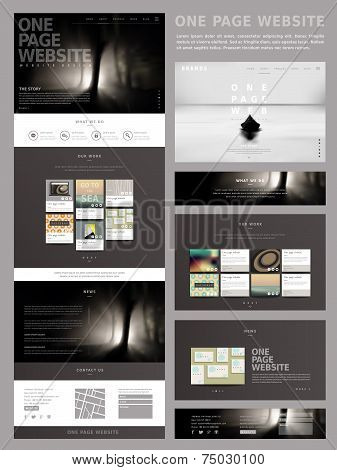 Modern Style One Page Website Design Template