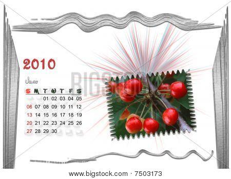 2010  Calendar june