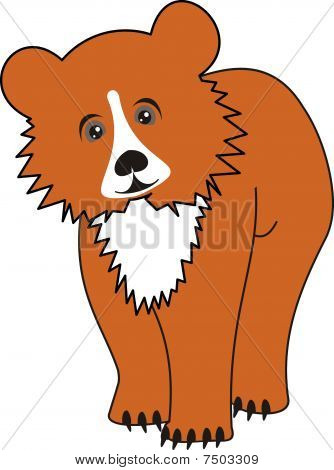 Cartoon young bear (grizzly)