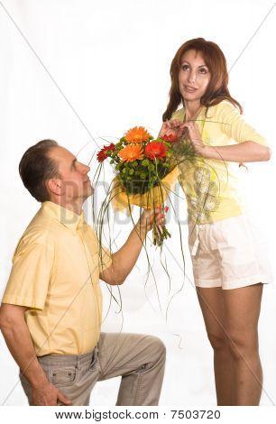 Man Prepared Bouquet