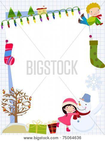 Children and Christmas Frame