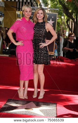 LOS ANGELES - OCT 29:  Kaley Cuoco, Ashley Jones at the Kaley Cuoco Honored With Star On The Hollywood Walk Of Fame at the Hollywood Blvd. on October 29, 2014 in Los Angeles, CA