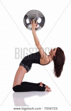 Girl Holding Disco Ball